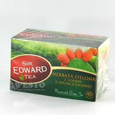В пакетиках Сер Едвард зелений з соком фіги 40 шт