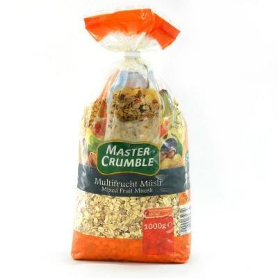 Мюслі MASTER CRUMBLE з змішаними фруктами 1 кг