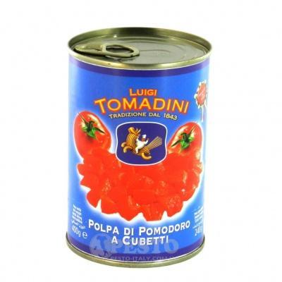 Помідори Tomadini різані у власному соці 400 г