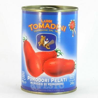 Помідори Tomadini цілі у власному соці 400 г