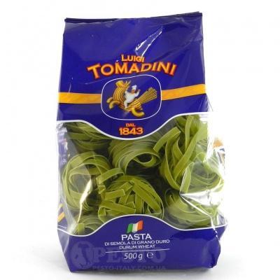 Кольорові Tomadini Tagliatelle 0.5 кг (зі шпинатом)