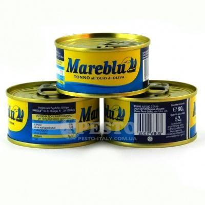 Тунець Mareblu в оливковій олії 80 г