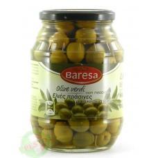 Оливки Baresa зелені з кісточкою 0,950кг