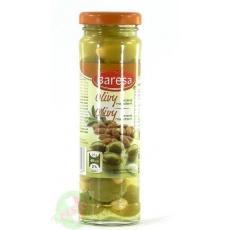 Оливки Baresa зелені з мигдалем 140г