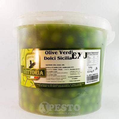 Зелені Salviani великі у відрі 5 кг