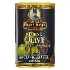 Оливки Kaiser Franz Josef Exclusive Zelene olivy v mirn slanem nalevu plnne anov..