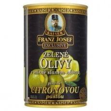 Оливки Kaiser Franz Josef Exclusive Zelene olivy v mirn slanem nalevu plnne citr..
