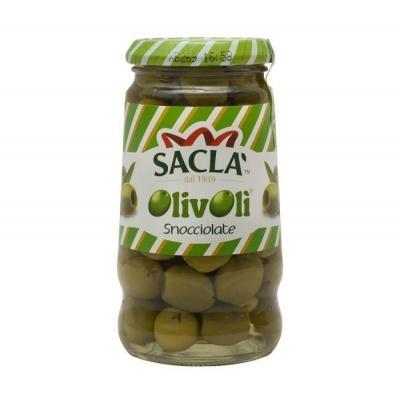 Зелені Sacla Olive Sacla Snocciolate без кісточки в росолі 290 мл
