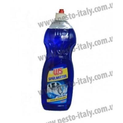 Засіб для миття посуду W5 синій 1л