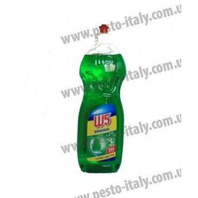 Засіб для миття посуду W5 зелений 1л