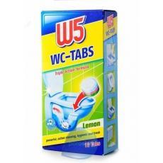 Засіб для унітазу W5 в таблетках лимон та бриз 16шт
