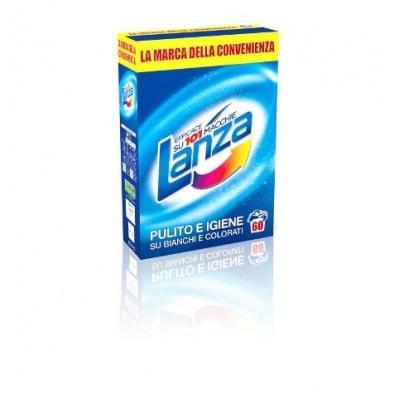 Порошок пральний Lanza pulito e igiene su bianchi e colorati 60 прань 3,98кг