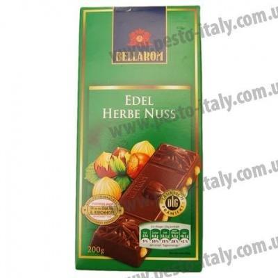 Шоколад Bellarom чорний з лісовими горіхами 200 г