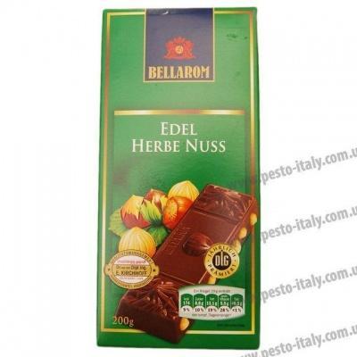Шоколад Bellarom чорний з горіхами 200 г