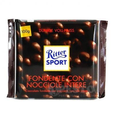 Шоколад Ritter Sport з цілим лісовим горіхом 100 г