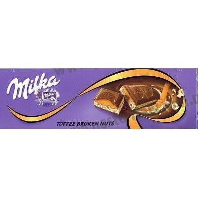 Шоколад Milka тофі з товченим горіхом 300 г