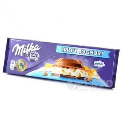 Шоколад Milka з йогуртом та пластівцями 300 г