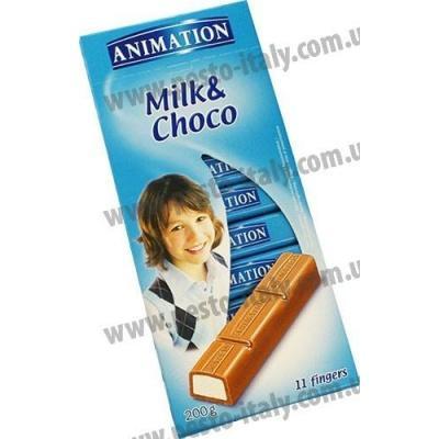 Шоколад Animation молочний 200 г