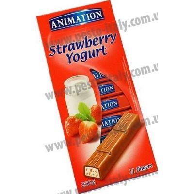 Шоколад Animation з полуницею та йогуртом 200 г