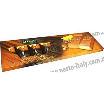 Шоколад Amanie молочний з печивом та смаком капучіно 300 г