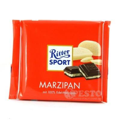 Шоколад RITTER SPORT гіркий з благородним марципаном 100 г
