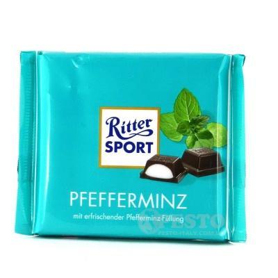 Шоколад Ritter sport з м'ятою перцевою 100 г