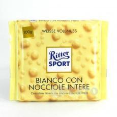 Шоколад білий c цільним лісовим горіхом White Whole Hazelnuts 100 гр. Ritter Spo..
