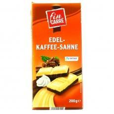 Шоколад Fin Carre чорно-білий з кавою 200г