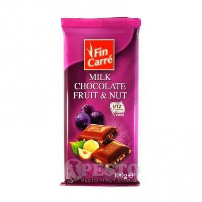 Шоколад Fin Carre молочний fruit nut 100 г