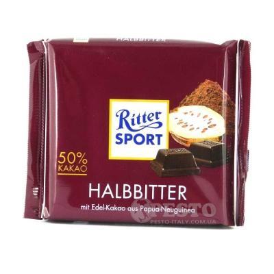Шоколад Ritter Sport темний 50% Cacao 100 г