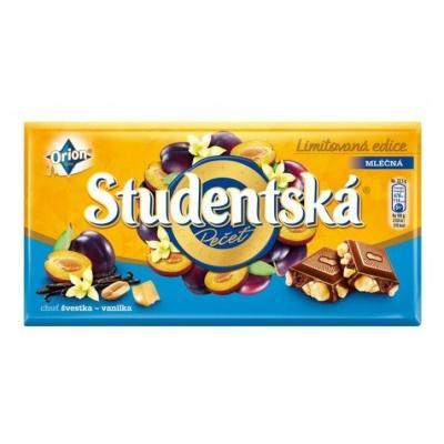 Шоколад Studentska milk chocolate with blueberry 180 г