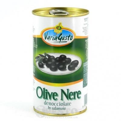 Чорні Varia Gusto Olive Nere Denocciolate in salamoia 350 г