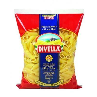 Класичні Divella Mezze Penne Rigate n.42 0.5 кг