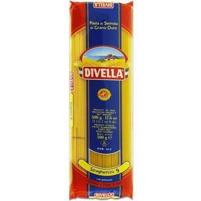 Класичні Divella Spaghettini n.9 0.5 кг