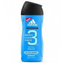 Гель для душу чоловічий Adidas Body Hair Face 3 250мл