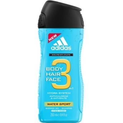 Гель для душу чоловічий Adidas Body Hair Face 3 Hydra System 250мл