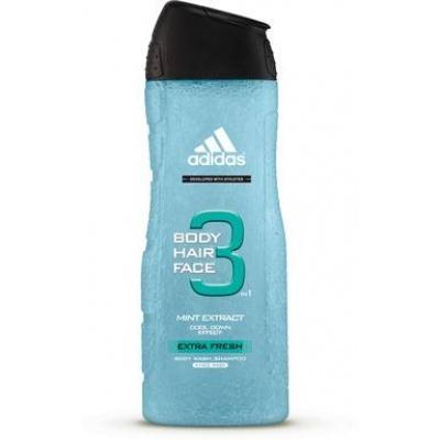 Гель для душу чоловічий Adidas body hair face 3 mint extract 250ml