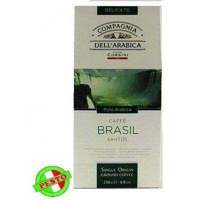 Мелена кава Caffe Corsini Brasile santos Puro Arabica 250 г