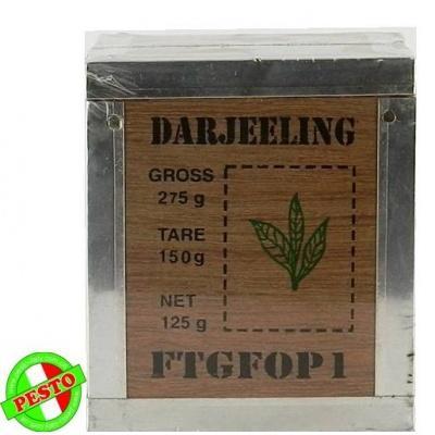 Розсипний Pure darjeeling tea в деревяній упаковці 125 г