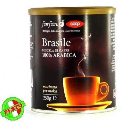 Мелена кава Caffe Brasile miscela di caffe macinato per moka 100% arabica 250 г