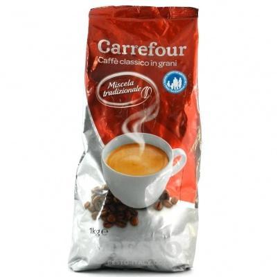 Кава в зернах Carrefour miscela tradizionale 1 кг