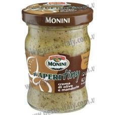 Monini Gli Aperitiny с миндалем и оливками 90 г
