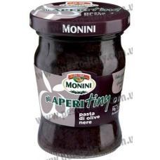 Monini Gli Aperitiny из черных оливок 90 г