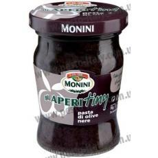 Monini Gli Aperitiny з чорних оливок 90 г