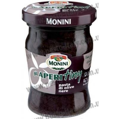 Соуси до макаронів Monini Gli Aperitiny з чорних оливок 90 г