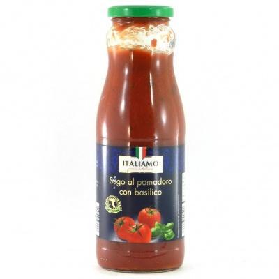 Соуси до макаронів Italiamo томатний з базиліком 0.720 л