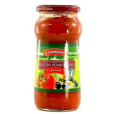 Соуси до макаронів Combino томатний з оливками 400 мл
