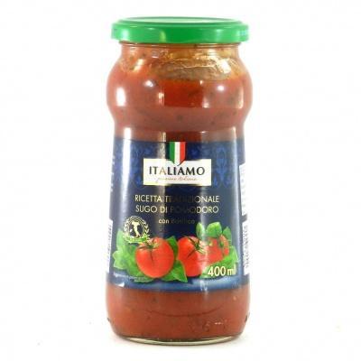 Соуси до макаронів Italiamo томатний з базиліком 400 мл