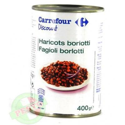 Квасоля Carrefour Haricots borlotti 400 г