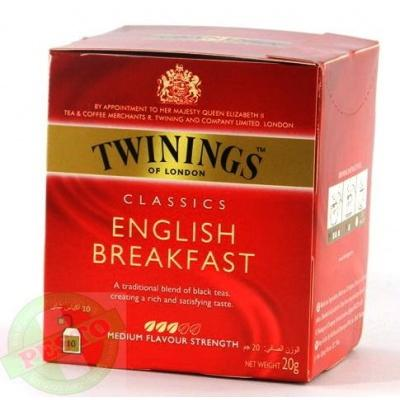 В пакетиках Twinings classics english breakfast 10 шт